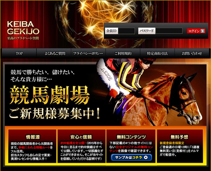 競馬劇場のトップページ