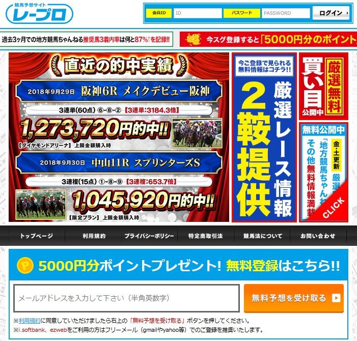 競馬予想サイト|レープロ
