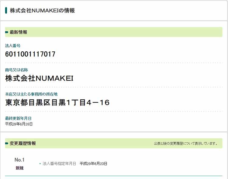 株式会社NUMAKEI
