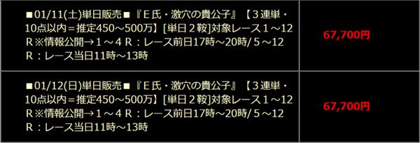 ハイブリッド E氏・激穴の貴公子(1月11日)