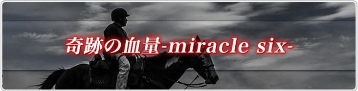 血統シックス 奇跡の血量 -miracle six-