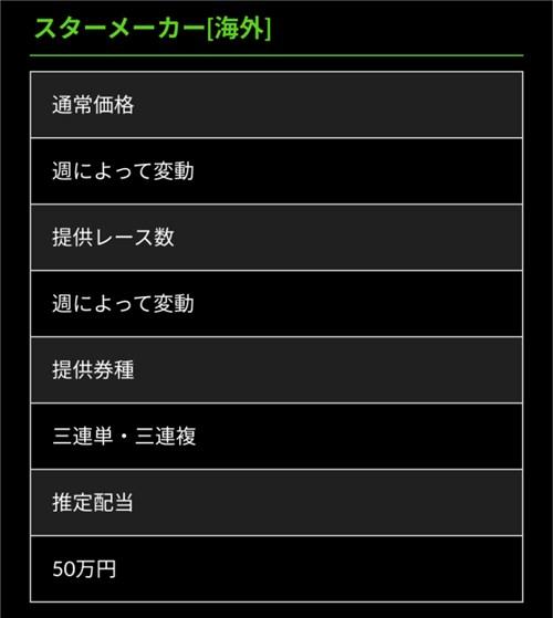 ホライズン 有料予想プラン(スターメーカー[海外])