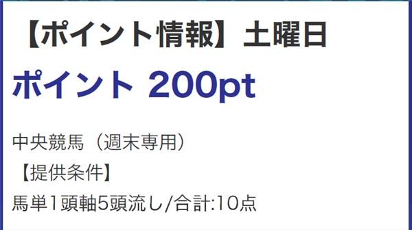 LAP競馬 ポイント情報(200PT)